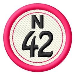 Bingo N42 embroidery design
