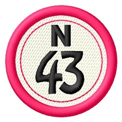 Bingo N43 embroidery design