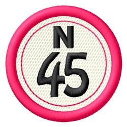 Bingo N45 embroidery design