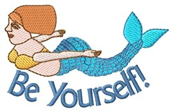 Be Yourself Mermaid! embroidery design