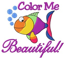 Color Me Beautiful! embroidery design