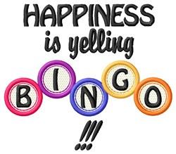 Bingo Happiness embroidery design