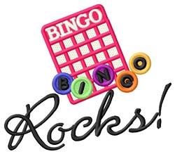 Bingo Rocks embroidery design