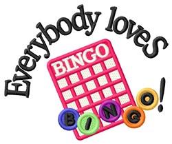 Love Bingo embroidery design