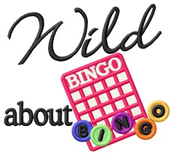 Wild Bingo embroidery design