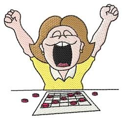 Female Bingo Player embroidery design