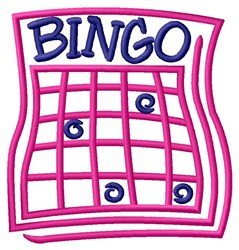 Bingo Card embroidery design