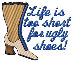 No Place For Ugly Shoes embroidery design