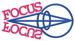Eye Focus embroidery design