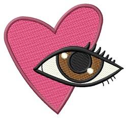 Heart & Eye embroidery design