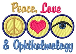 Love Ophthalmology embroidery design