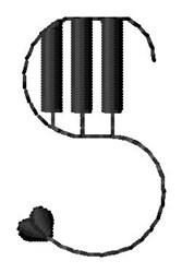 Piano S embroidery design