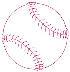 Ball Outline embroidery design