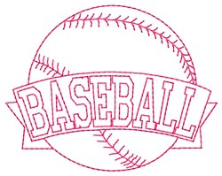 Baseball Banner embroidery design