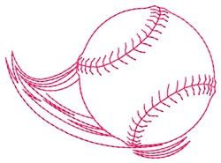 Flying Baseball embroidery design