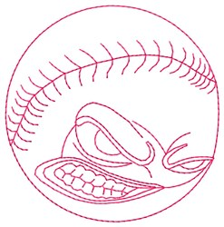 Angry Baseball embroidery design