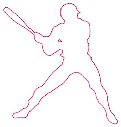 Batter Swing embroidery design
