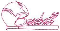 Baseball Bat embroidery design