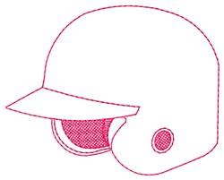 Batter Helmet embroidery design