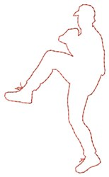 Pitcher Outline embroidery design