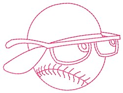 Ball Glasses embroidery design