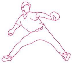 Fielder Pitcher embroidery design