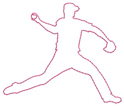 Pitcher Fielder embroidery design