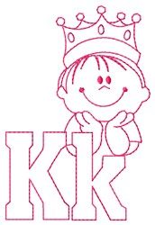 King K embroidery design