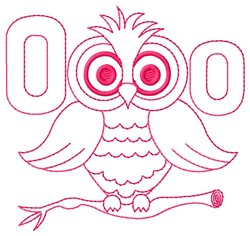 Owl O embroidery design