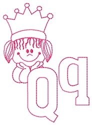 Queen Q embroidery design