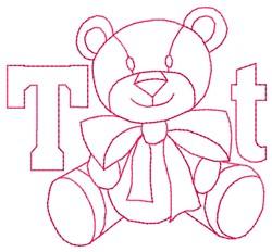 Teddy Bear T embroidery design