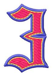 Baseball Font 3 embroidery design