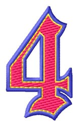 Baseball Font 4 embroidery design