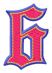 Baseball Font 6 embroidery design