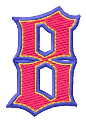 Baseball Font 8 embroidery design