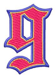 Baseball Font 9 embroidery design