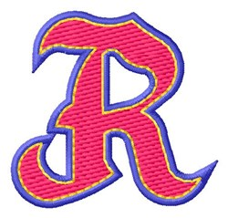 Baseball Font R embroidery design