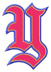 Baseball Font Y embroidery design