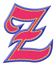 Baseball Font Z embroidery design