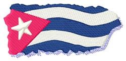 Cuba Flag embroidery design