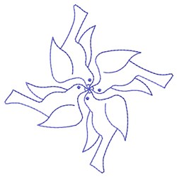 Outline Birds embroidery design