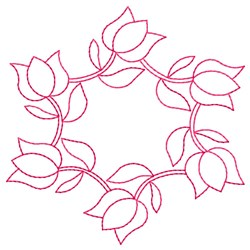 Tulips Outline embroidery design