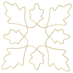Leaves Outline embroidery design