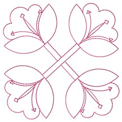 Lilies Outline embroidery design
