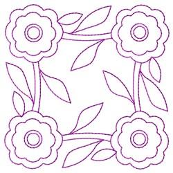 Outline Floral embroidery design