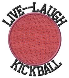 Live Laugh Kickball embroidery design