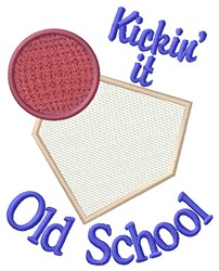 Old School embroidery design
