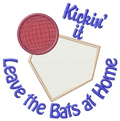Leave the Bats embroidery design