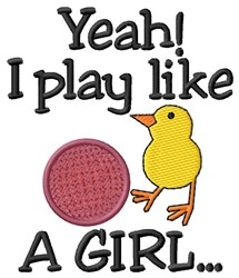 Like a Girl embroidery design