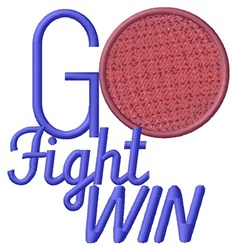 Go Fight embroidery design